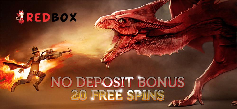 No deposit bonus from Red Box casino – free spins, promo