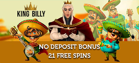 21 Free Spins no deposit bonus for registration in King Billy Casino