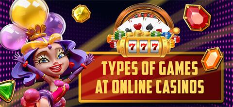 Games at online casinos
