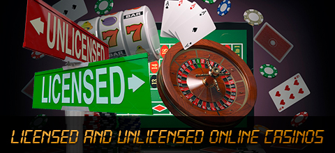 Licensed and unlicensed online casinos