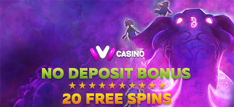 No Deposit Bonus - 20 free spins from IVI Casino