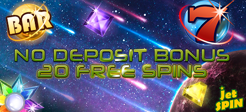 No Deposit Bonus - 20 free spins on the most popular slot at JetSpin Casino