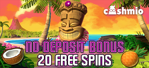 No deposit bonus in Cashmio Casino