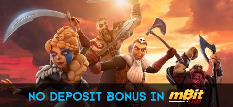 No deposit bonus in mBit Casino
