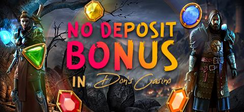 No deposit bonus in online casino Dons casino