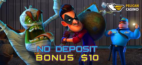 No deposit bonus in online casino Pelican Casino