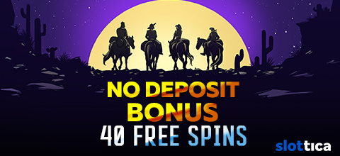 No Deposit Bonus online casino – 40 free spins from Slottica Casino