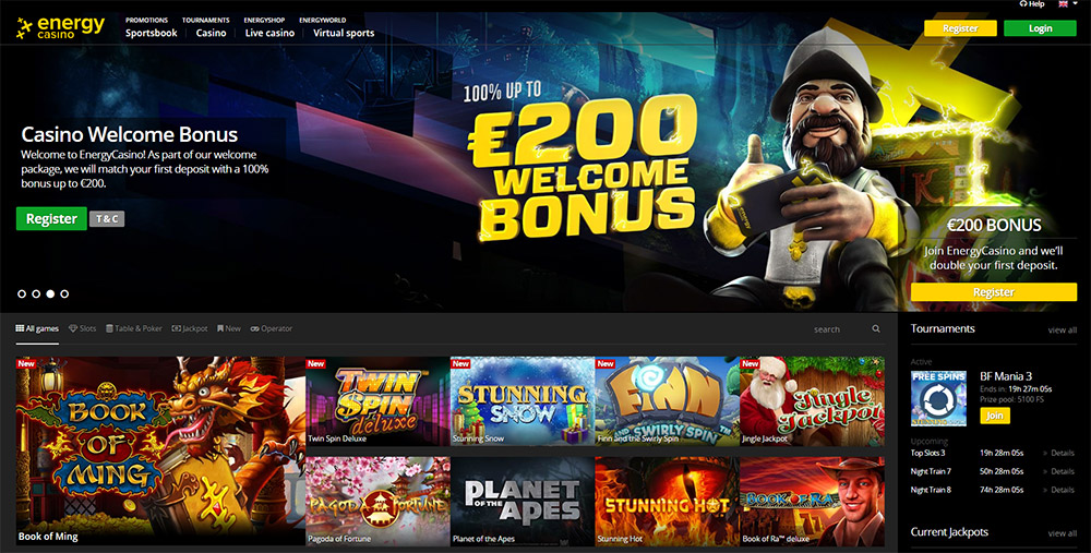 Energy Casino review – Free Spins and welcome Bonus 100% up