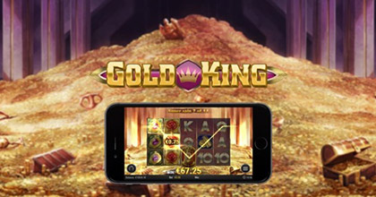 """Gold King"" is a new royal slot from Play'n GO"