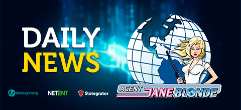 Daily News: Microgaming launches a new slot «Agent Jane Blonde Returns»; NetEnt launches a new product called MAX; Slotegrator and Betgames.tv signed an agreement.